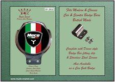 Royale Car Scooter Bar Badge + Fittings - NECO ABRUZZI ITALIA BLACK - B1.2832