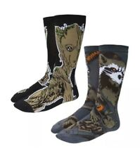 Infinity War Guardians Of The Galaxy Groot and Rocket 2 Pack Mens Crew Socks