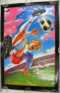 NITF! ☆ Vintage ☆ 1992 ☆ OLD STOCK ☆ NIKE Poster ☆ KIDS' SOCCER ☆ Bicycle Kick