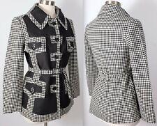 New sz 36 / US 4 Maison Martin Margiela cut out dogtooth jacket coat