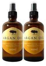 100% Pure Organic Moroccan ARGAN OIL Skin, Body,Hair & Nails- Pack of 2 x 100ml