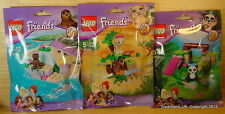 LEGO FRIENDS PETS Series 6 Set of 3 Kits Panda Lion Seal Zoo Animals NEW!