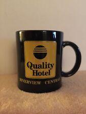 "Quality Hotel Coffee Mug-Black-Riverview Central- 4"" tall"