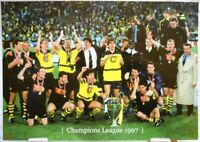 Borussia Dortmund + Fußball Champions League 1997 Winner + Fan Big Card A121