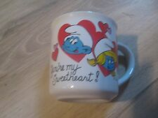 1982 Smurf Mug You're My Sweetheart  Vintage EUC