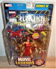 2003 Marvel Legends Elektra Series 4 Four Action Figure Toy Biz w/ comic book