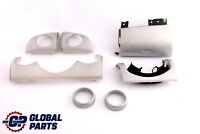 BMW Mini Cooper 4 R50 R53 Set Dashboard Panel Trim Strip Cover White Silver