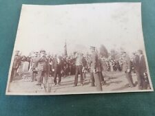 photo militaire - commémoration avec le roi albert 1 er