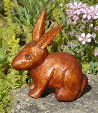 Kleiner kauernder Hase Holz Tier Bauernhof Figur Kinder Spielzeug KTier53