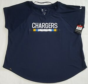 NFL Women's The Nike Tee Athletic Cut San Diego Chargers Navy Blue T Shirt Large