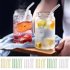 Portable Reusable Straight Pyrex Glass Drinking Straw for Party w/ FREE Cleaner