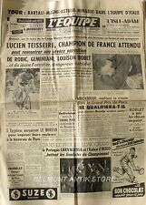 Journal l'Equipe n°2240 - 1953 - Lucien Tesseire - Mockridge - Louison Bobet -