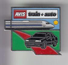 RARE PINS PIN'S .. AUTO CAR LOCATION RENTAL AVIS TRAIN TGV SNCF RAILWAYS ~C6