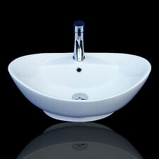 Aufsatzwaschbecken oval mit hahnloch  Waschtische & -becken in Form:Oval, Sanit rprodukt:Waschbecken ...