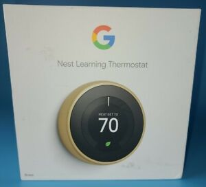 Nest Thermostat 3rd Generation T3032US Brass USED