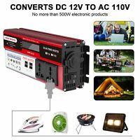 US 6000W Car Portable LED Power Inverter DC 12V To AC 110V  Sine Wave Converter