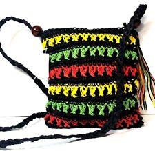 Women Rasta Woven Crochet Handbag Purse Crossbody Boho