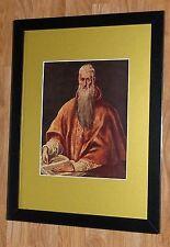"""Incorniciato 12"""" x16"""", El Greco, St. Jerome, i comandanti dipinti, BIBBIA DIPINTI"""