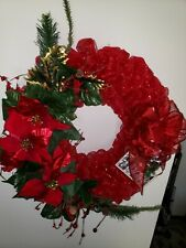 BEAUTIFUL RED CHRISTMAS WREATH at 28 inch diameter