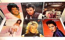 #121 Lot of 6 LPs-Kim Wilde GERMANY-Rick Springfield-Sheena Easton-Carole Sayer