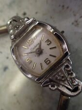 Art Deco Woman's w Diamonds Watch Ticks But Needs A Crown#13