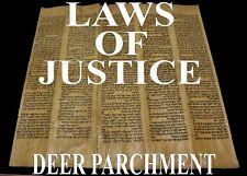 TORAH SCROLL BIBLE VELLUM MANUSCRIPT LEAF 250 YRS PERSIA Deuteronomy 20:20-26:3