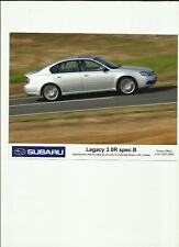 "SUBARU LEGACY 3.0 R SPEC. B. ORIGINAL PRESS PHOTO "" Brochure """