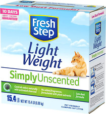 Fresh Step Lightweight Multi-Cat Clumping Cat Litter  Simply Unscented 15.4 Lbs