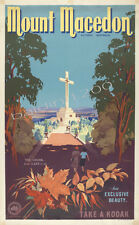 "AUSTRALIA HIGH QUALITY RETRO VINTAGE ""MOUNT MACEDON"" TRAVEL POSTER PRINT"