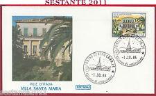 ITALIA FDC ROMA VILLE D'ITALIA VILLA SANTA MARIA CAPO PULA CA 1985 TORINO Y903
