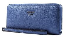 Guess Bourse Cate SLG Large Zip Around Navy