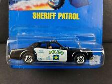 1991 Hot Wheels Sheriff Patrol #59 Blue Card Police Car BW Diecast 1549 NEW