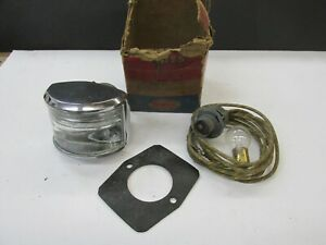 NOS 1951 DESOTO BACK UP LAMP PACKAGE LENS 1345658 LIGHT