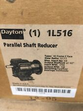 DAYTON 1L516 PARALLEL SHAFT SPEED REDUCER C-Face,42CZ/48,12.7:1 *NEW*