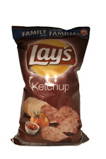 2 Bags - Canadian Lays Ketchup potato Chips Family Size (235g)