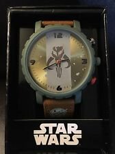 Star Wars Large Face Warriors of Mandalore Green and Brown Watch VHTF NEW