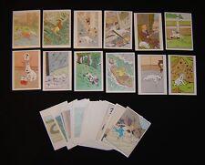 TinTin & Milou 64 chromos 1964 Milou Bubble Gum Kuifje Bobby Hergé Complete