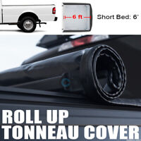Fits 83-11 Ford Ranger/94-10 Mazda B-Series 6 Ft Bed Roll-Up Soft Tonneau Cover