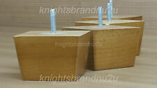 4x REPLACEMENT SOLID WOOD FEET OAK FURNITURE LEGS- SOFA, CHAIR, SETTEE M8(8mm)