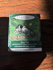 Hallmark 2001 Monopoly Collectors Series Race Car Miniature Ornament In Box