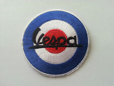 VESPA / LAMBRETTA SCOOTER RALLY MOD SEW / IRON ON PATCH:- VESPA (a) TARGET ROUND