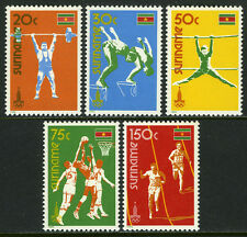 Surinam 552-556,MI 905-909,MNH.Olympics, Moscow. Diving, Runners,Basketball,1980