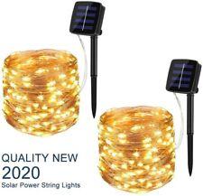 Solar Powered 10M/33Ft 100LEDs Copper Wire Fairy String Light Home Garden Decor