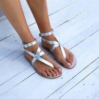 Summer Women's Flip Flops Sandals Peep Toe Slippers Flats Casual Shoes US4.5-13