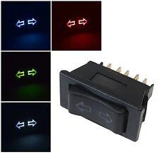 Auto Fensterheber-Schalter Tasto 12V 10A LED Illuminato Universale 5 Pin Auto