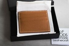 Luxury custom cardholder Handmade of premium leather Handstitched compact wallet