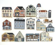 The Cats Meow Village Mixed Series Collections Lot 15 Wooden Houses Buildings
