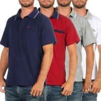 Herren Sport Polo Shirt mit Brusttasche Stretch Kurz-Arm, M L XL 2XL 3XL