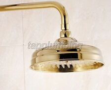 "Bathroom Luxury Gold Color Brass 8"" inch Round Large Rain Shower Heads tsh050"
