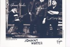 6 X 6 B&W Photo Johnny Winter Band Autograph {101.2}